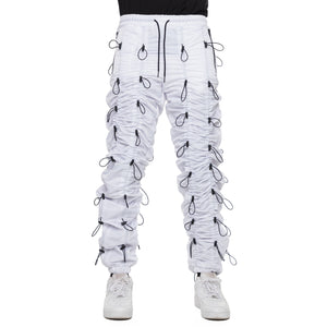 WHITE-ACCORDION PANTS - EPTM.