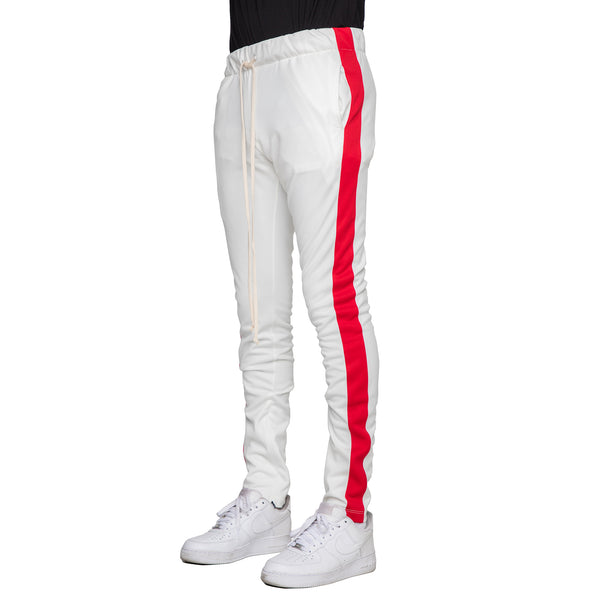 OFF WHITE/RED-TRACK PANTS