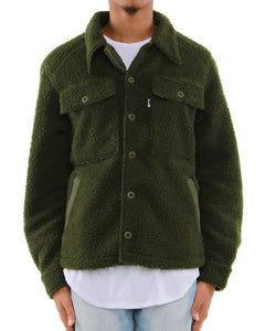 OLIVE-Military Sherpa Jacket