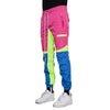 EPTM PINK/BLUE-COLOR BLOCK WINDBREAKER PANTS - EPTM.