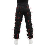 EPTM BLACK/RED-ACCORDION PANTS - EPTM.