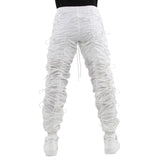 EPTM WHITE/WHITE-ACCORDION PANTS - EPTM.