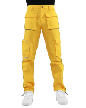 EPTM YELLOW-3M PIPING CARGO PANTS - EPTM.