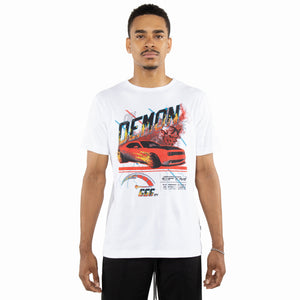 EPTM WHITE/RED-ON DEMON TIME TEE