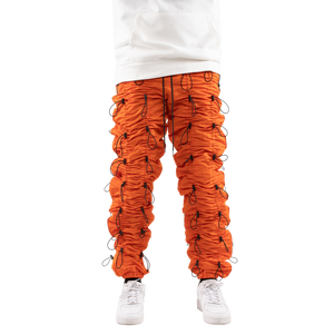 ORANGE/BLACK-ACCORDION PANTS - EPTM.