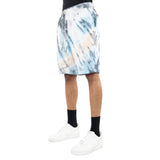 EPTM CREAM/LT.BLUE-TIE DYED SHORTS