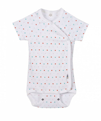 iobio Konfetti Organic Cotton kimono baby bodysuit with adjustable poppers - Special Little Shop