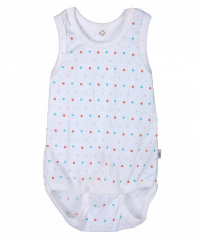 iobio Konfetti Organic Cotton sleeveless baby bodysuit with adjustable poppers - Special Little Shop