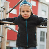 Fleeced Zip Jacket for Boys or Girls Organic Merino Wool by Reiff