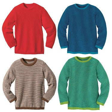 Disana Organic Merino Wool Basic Knit Jumper. Lightweight and Great for Layering.