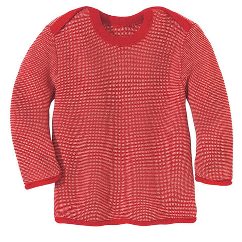 Disana Organic Merino Wool Baby Jumper. Envelope Neck. Cuddly and soft!