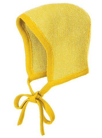 f702fdd879a ... Disana Merino Wool Two Colour Baby Bonnet with strings in 8 colours ...