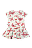 Pink Butterfly summer baby or toddler frill dress by igi - Special Little Shop - 2