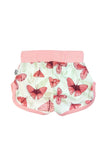 Pink Butterfly baby & todder shorts by igi organic - Special Little Shop - 2