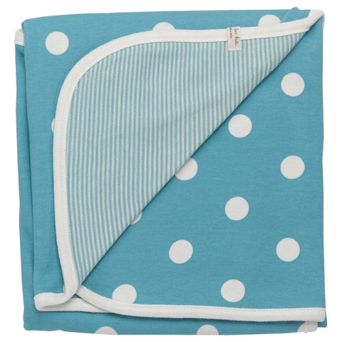 Pigeon Reversible spotty blanket (Blue spot) - Special Little Shop