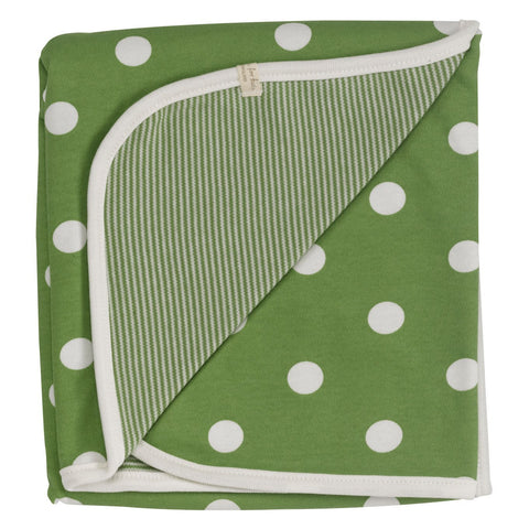 Pigeon Reversible spotty blanket (Green spot) - Special Little Shop