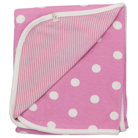 Pigeon Reversible spotty blanket (Pink spot) - Special Little Shop