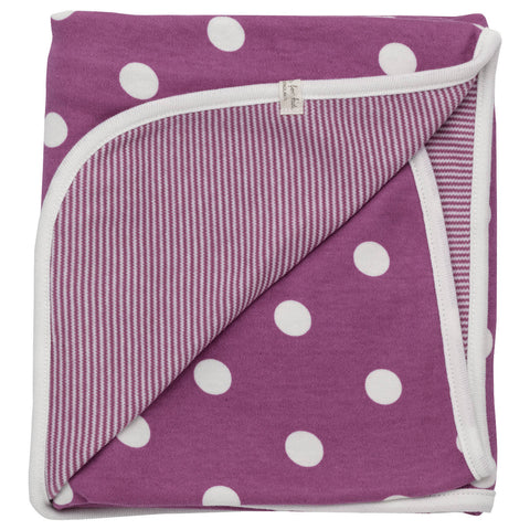 Pigeon Reversible spotty blanket (Raspberry spot) - Special Little Shop