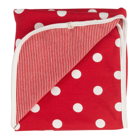 Pigeon Reversible spotty blanket (Red spot) - Special Little Shop