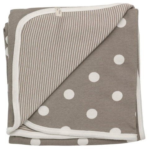 Pigeon Reversible spotty blanket (Taupe spot) - Special Little Shop