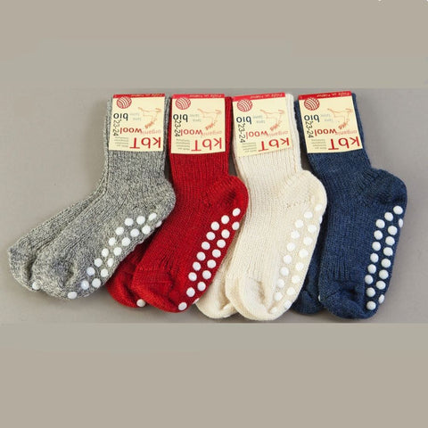 Hirsch-Natur organic wool non-slip grippy socks (FREE DELIVERY). - Special Little Shop