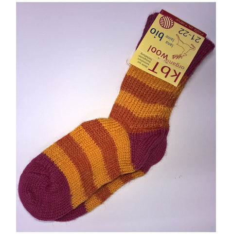 Organic wool boy's or girl's striped socks by Hirsch Natur. FREE DELIVERY.