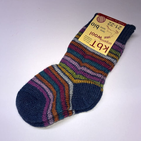 Organic wool boy's or girl's socks by Hirsch Natur. Multicoloured.