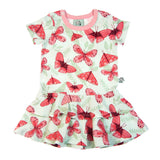 Pink Butterfly summer baby or toddler frill dress by igi - Special Little Shop - 1