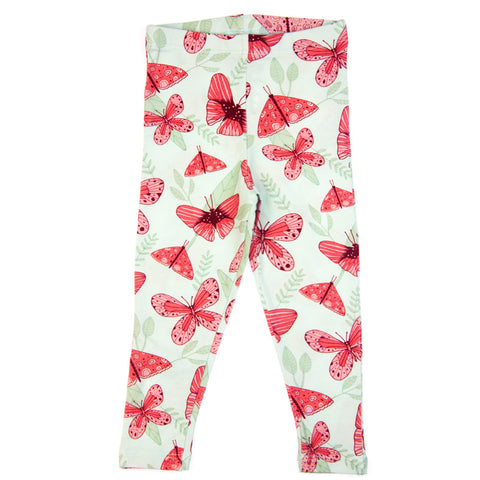 Pink Butterfly baby leggings by igi organic - Special Little Shop - 1