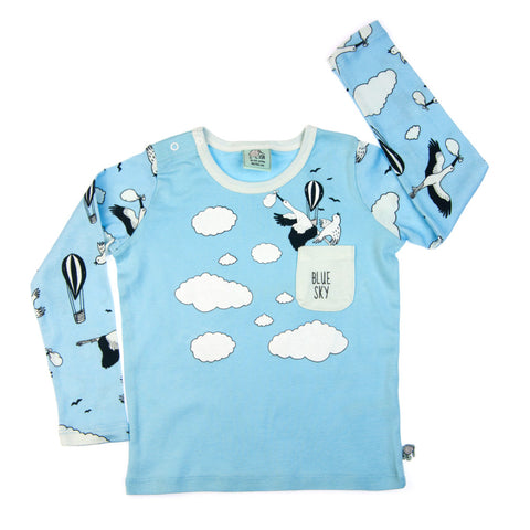 Blue Sky long sleeve baby toddler vest top by igi - Special Little Shop - 1