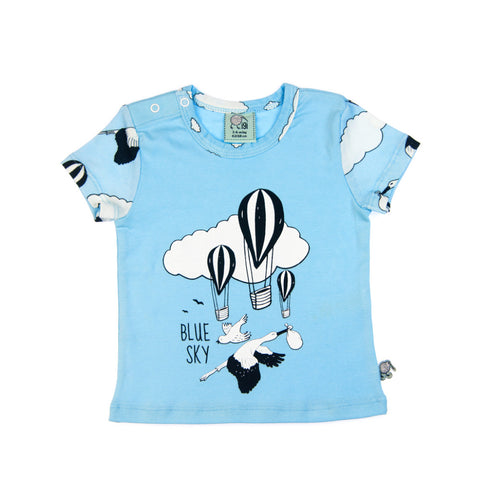 Blue Sky short sleeve baby toddler tee by igi organic - Special Little Shop