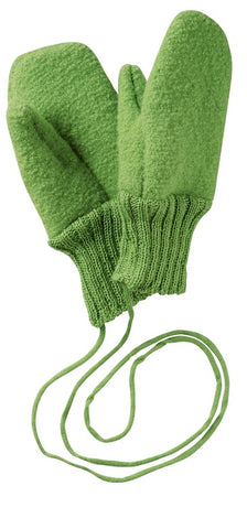 Boiled wool mittens (gloves) for baby and child with strings by disana