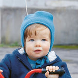 Boiled Merino Wool Child's Hat with strings by Disana. In 10 colours!