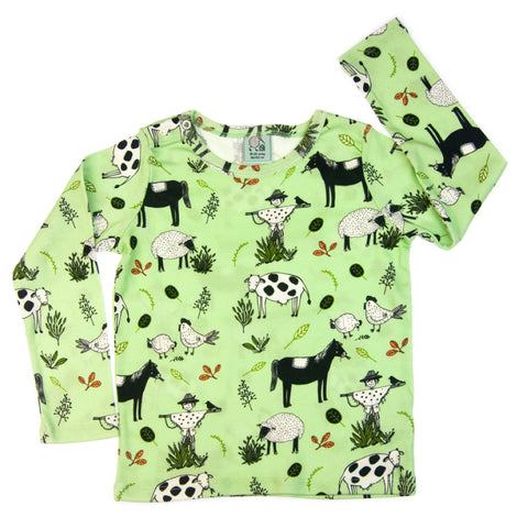 Little Farmer long sleeve baby toddler vest top by igi - Special Little Shop - 1