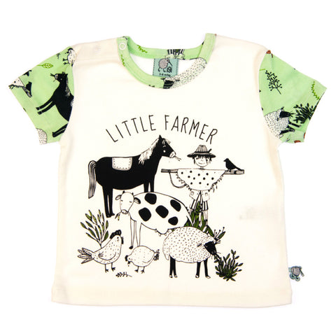 Little Farmer short sleeve baby toddler tee by igi - Special Little Shop - 1
