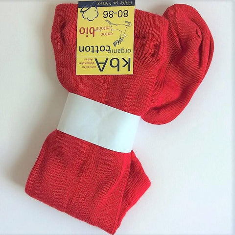 Organic Cotton baby child tights by Hirsch-Natur. Natural, Red, Navy.