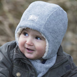 Jan - Pickapooh Wool Winter Baby, Toddler, Child Wool Hat with fleece lining and ties (Organic Wool & Cotton) - Special Little Shop - 3