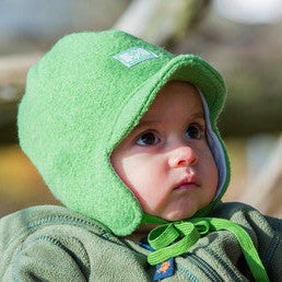 Javis - Pickapooh Winter Baby, Toddler, Child Wool Hat with visor and ties (Organic Wool & Cotton) - Special Little Shop