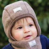 Luc - Pickapooh Wool Winter Reversible Baby, Toddler, Child Wool Hat with ties (Organic Wool & Cotton) - Special Little Shop - 1
