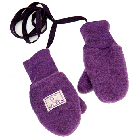 Wool fleece mittens for baby and child by Pickapooh (Organic wool fleece) - Special Little Shop - 1