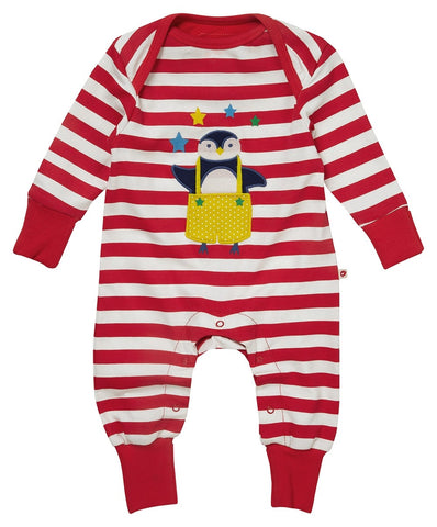 Piccalilly Christmas Playsuit - Penguin Applique