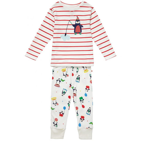 Piccalilly Christmas Pyjamas - Penguin. Super soft and snuggly!