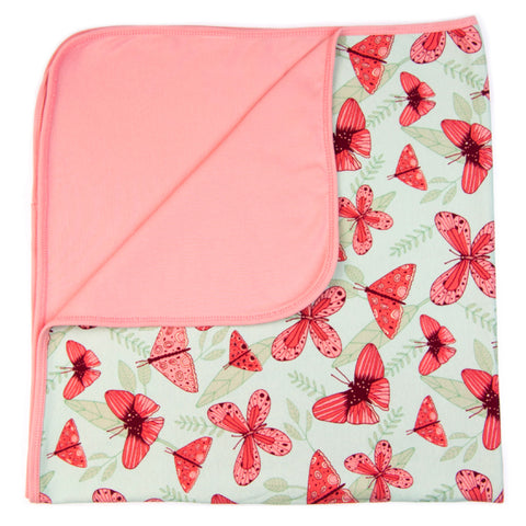 Pink Butterfly Baby Blanket by igi organic - Special Little Shop