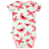 Pink Butterfly Short sleeve envelope bodysuit by igi - Special Little Shop - 2