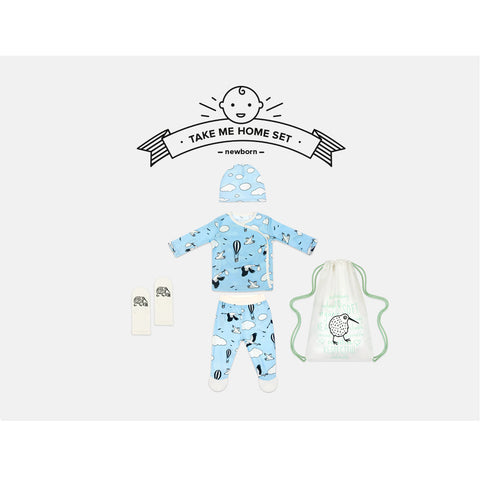 Blue Sky Newborn Take Me Home Set by igi organic - Special Little Shop - 1