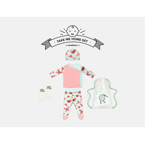 Pink Butterfly Newborn Take Me Home Set by igi - Special Little Shop - 1