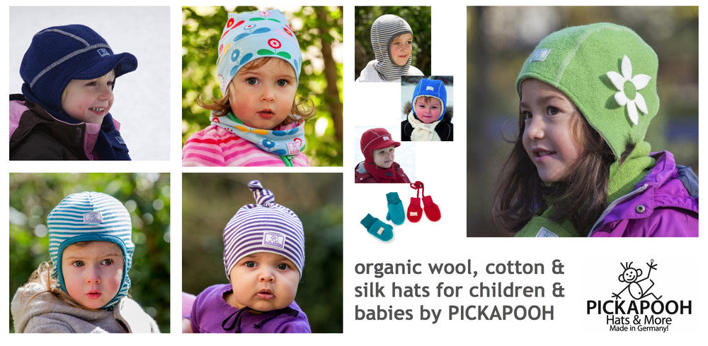Shop Pickapooh organic wool and cotton hats and more