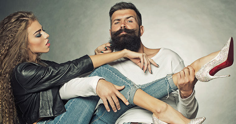 Attractive Girl With Bearded Man