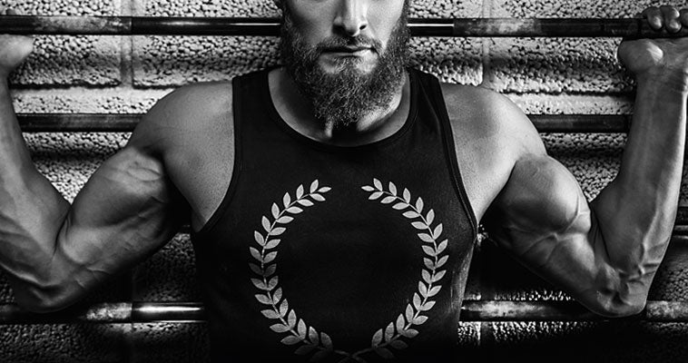 Bearded Man Working Out