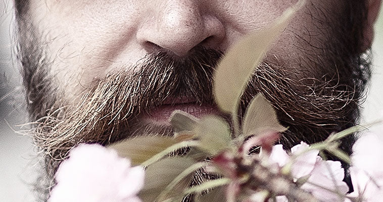 Mustache With Blooming Tree